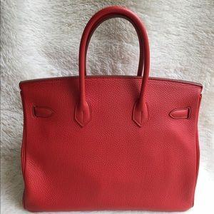 499525c7fb0 Hermes Bags - Hermes Birkin 35 Togo Vermillon PHW Stamp Q